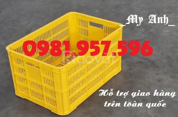Sọt nhựa Hs018, sóng nhựa Hs018, sọt nhựa 525 x 370 x 215mm
