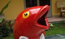 Thùng rác nhựa composite hình cá chép