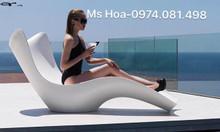 Ghế nhựa Fiberglass tắm nắng, ghế nhựa ngoài trời giá rẻ