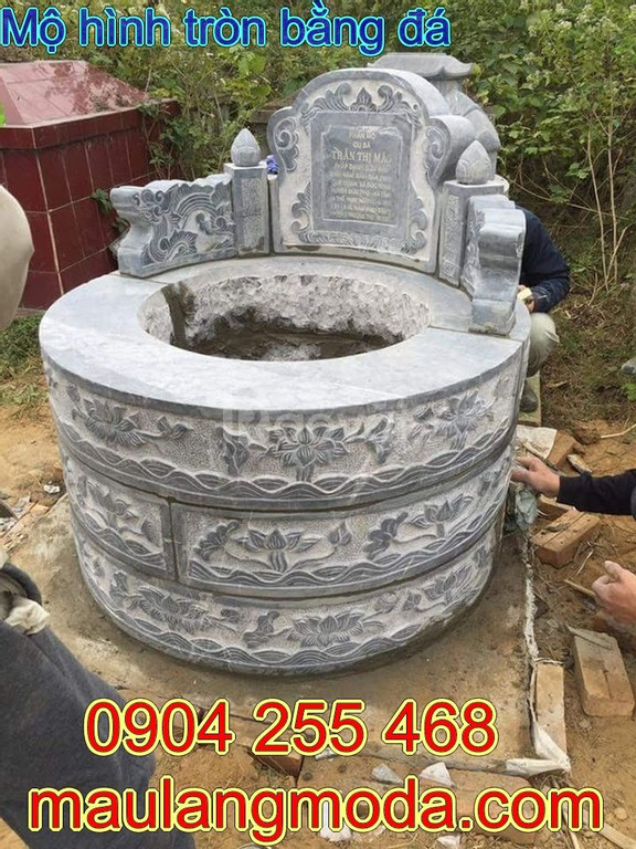 Mẫu mộ tròn đẹp - mộ hình tròn đẹp bằng đá chuẩn phong thủy