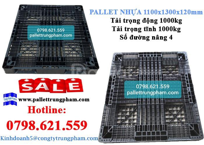 Pallet nhựa 1100x1300x120mm giá ưu đãi-sale off