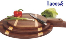 Thớt gỗ trưng bày thương hiệu Lacosa cao cấp, dụng cụ bàn tiệc Lacosa