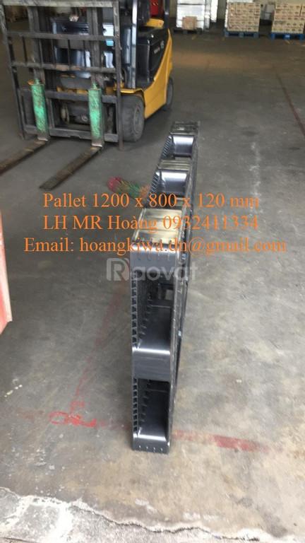 Pallet nhựa 1200 x 800 x 120 mm, Pallet nhựa nhập khẩu giá rẻ