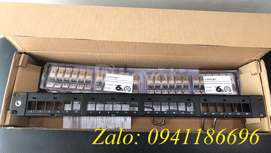Patch Panel CAT6A chống nhiễu 24 port, UTP, 1U Part number 760162800