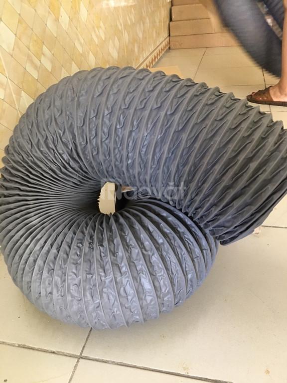 Ống gió mềm vải D100, D125, D150, D200, D250 thông gió, hút khí. (ảnh 7)