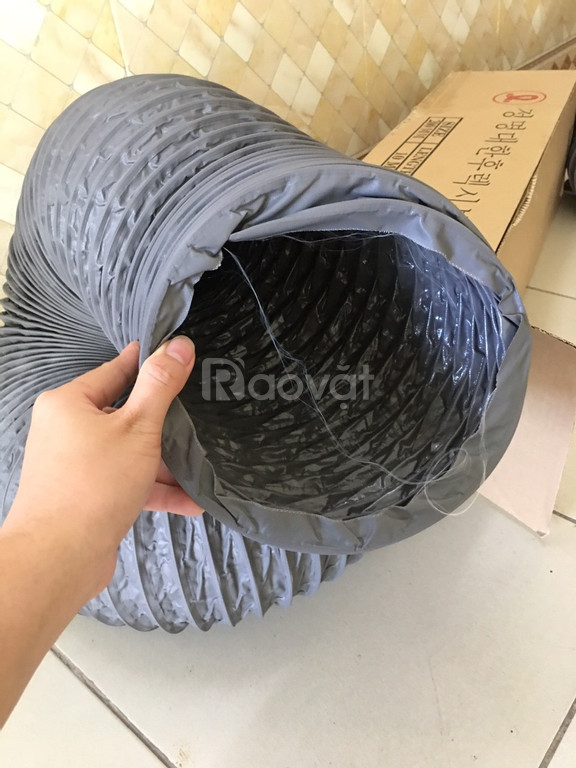 Ống gió mềm vải D100, D125, D150, D200, D250 thông gió, hút khí. (ảnh 6)