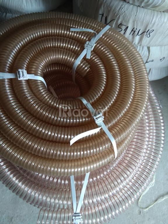 Nơi bán ống nhựa PU lõi thép mạ đồng phi 50, phi 60, phi 75, phi 100.