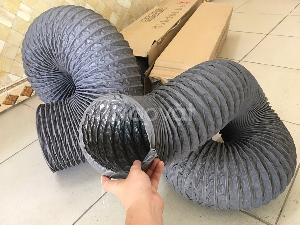 Ống gió mềm vải D75, D100, D125, D175, D200 chuyên dẫn gió, thông khí