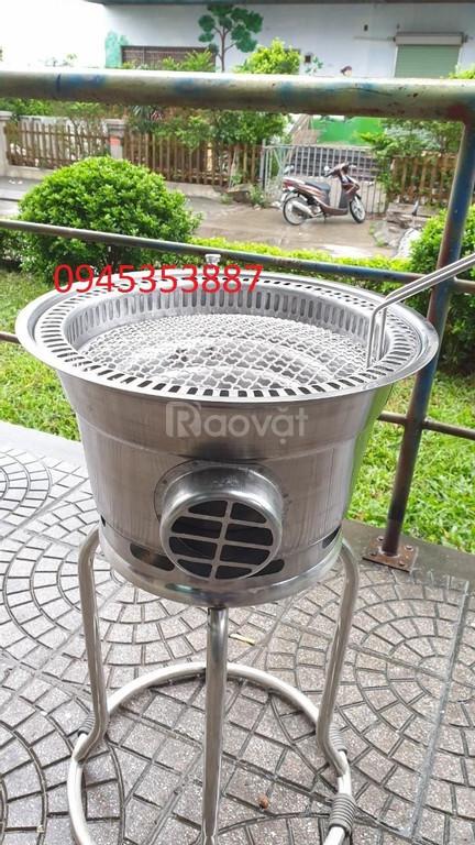 Bếp nướng than hoa âm bàn không khói hút âm