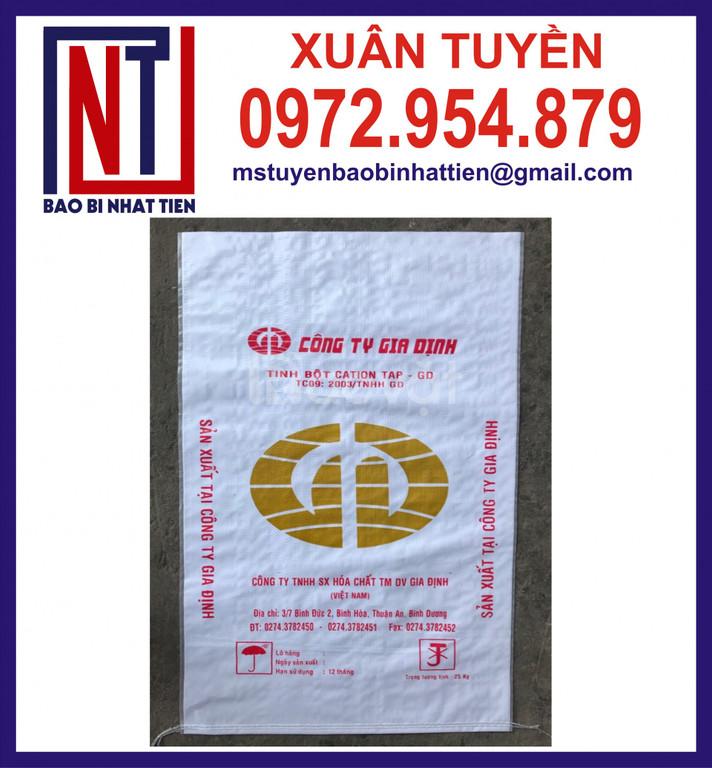 Bao PP dệt tráng nhựa, sản xuất in ấn bao PP dệt