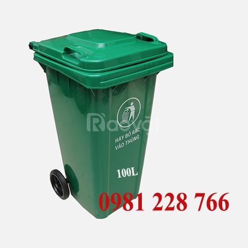 Thùng đựng rác bằng nhựa 100L