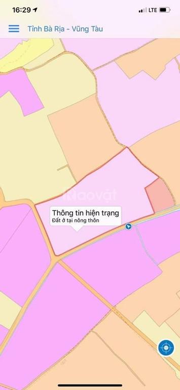 Đất gần KCN đất đỏ , tỉnh BRVT , diện tích 500m2