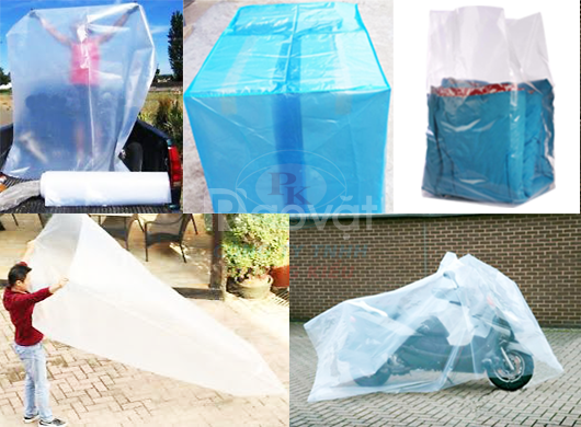 Túi nhựa pe bao trùm nệm, túi nilon khổ lớn