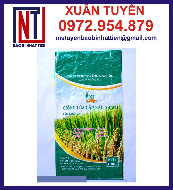 Cung cấp bao bì lúa giống, bao đựng 40kg