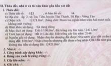 Cần tiền bán gấp Tóc Tiên, Tân Thành, BRVT