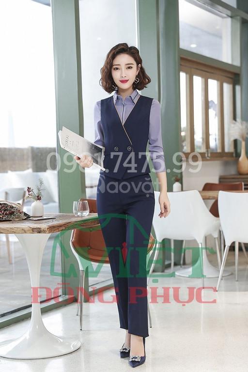 Xưởng may áo gile nữ công sở cao cấp, giá rẻ, đáng may nhất hiện nay