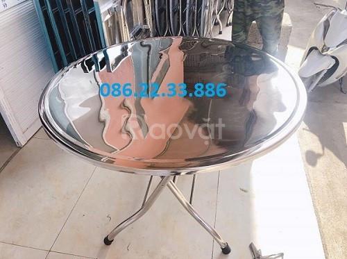 Bàn tròn inox Nhật Tân  (ảnh 1)