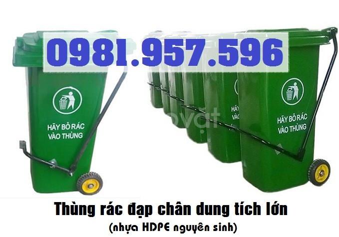 Thùng rác đạp chân 60L, thùng rác đạp chân 90L