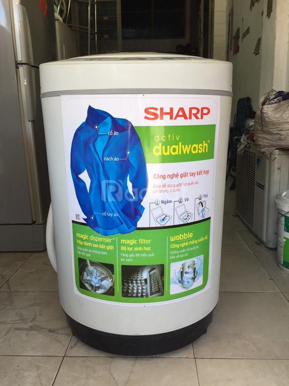 Máy giặt Sharp 7.5 kg, vỏ thùng nhựa, chống rỉ sét (ảnh 3)