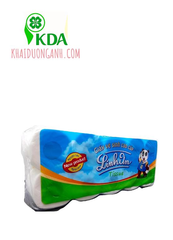 Giấy vệ sinh cao cấp 3 lớp Linh An giá sỉ, giấy vệ sinh khách sạn (ảnh 4)