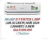 Máy lạnh Treo tường SHARP inveter - Gas R32 - 1.5 HP