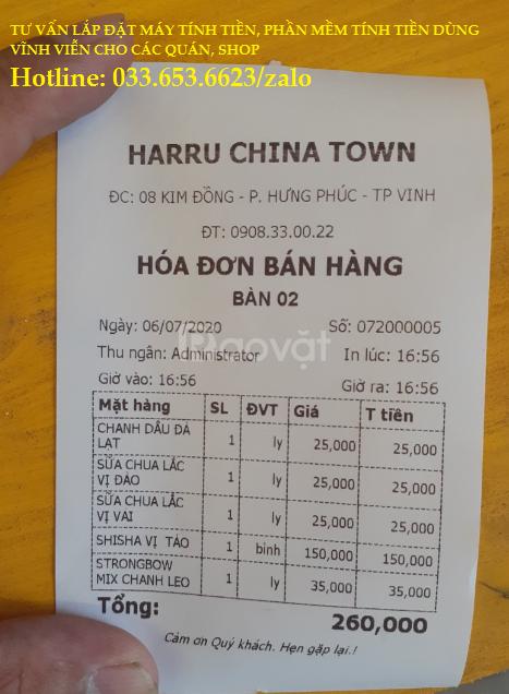 Bán máy tính tiền cho quán cafe, quán sinh tố ở Vinh
