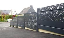 Hàng rào kim loại hoa văn cắt CNC, hàng rào sắt uốn nghệ thuật