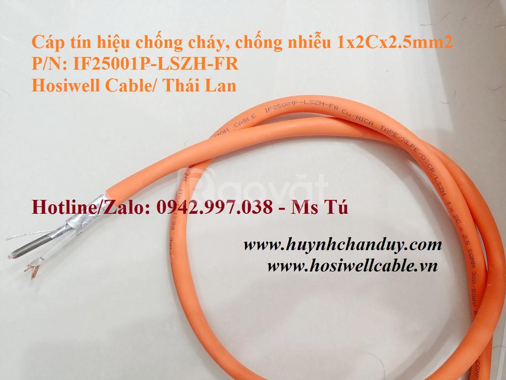 Cáp tín hiệu chống cháy, chống nhiễu 1x2Cx1.5mm2 (IF15001P-LSZH-FR)