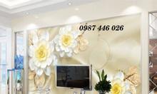Tranh gạch men hoa 5d trang trí tường
