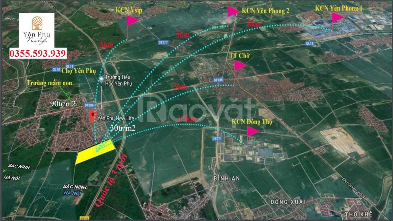 Chỉ 1,1 tỉ/lô đất nền đã có sổ tại Yên Phong Bắc Ninh