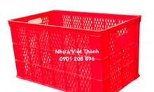 Sọt nhựa chở hàng (Sóng hở có bánh xe, Sọt 5 bánh xe, Sóng HS0199)