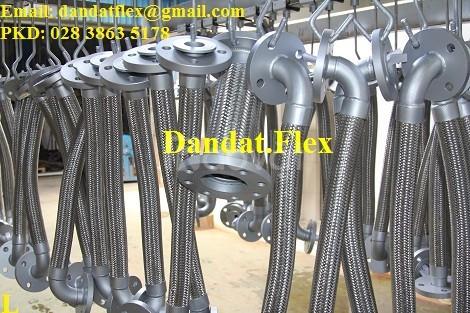 Khớp nối inox DN50 chịu nhiệt cao, khớp nối mềm inox nối bích DN65