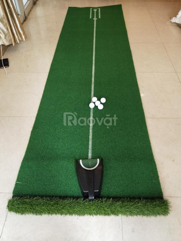 Bộ tập golf tại nhà, thảm put, khay nhả bóng golf và bóng tập golf