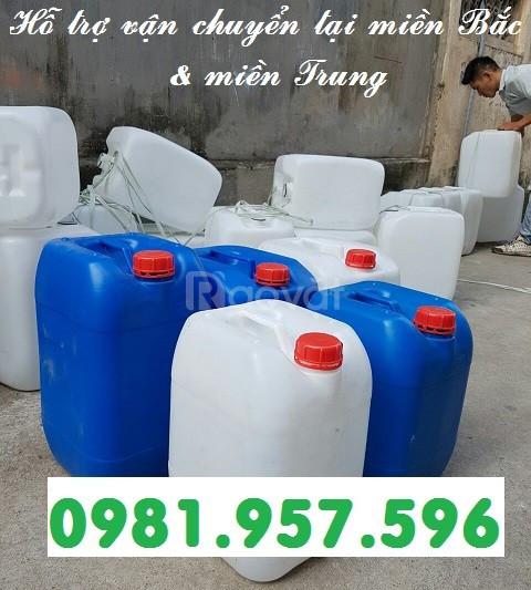Can hóa chất 25L, can nhựa nguyên sinh 25L, can nhựa HPDE
