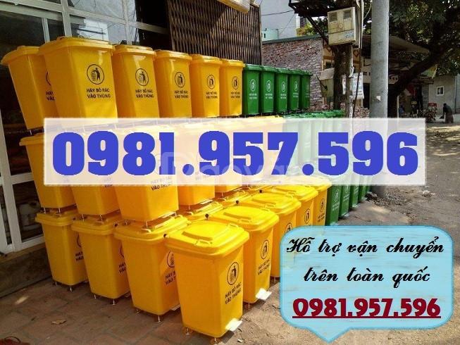 Thùng rác đạp chân 120L, thùng rác đạp chân 240L
