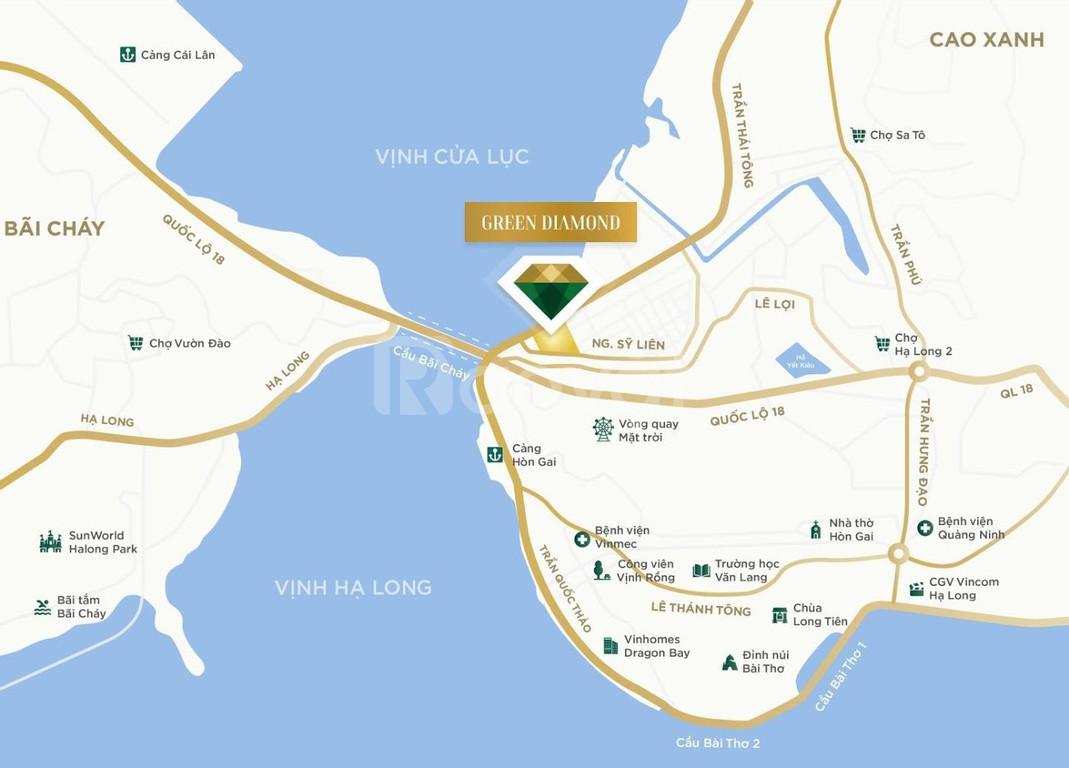 Chung cư mặt biển Green Diamond Hạ Long đẹp nhất miền Bắc, giá đợt 1
