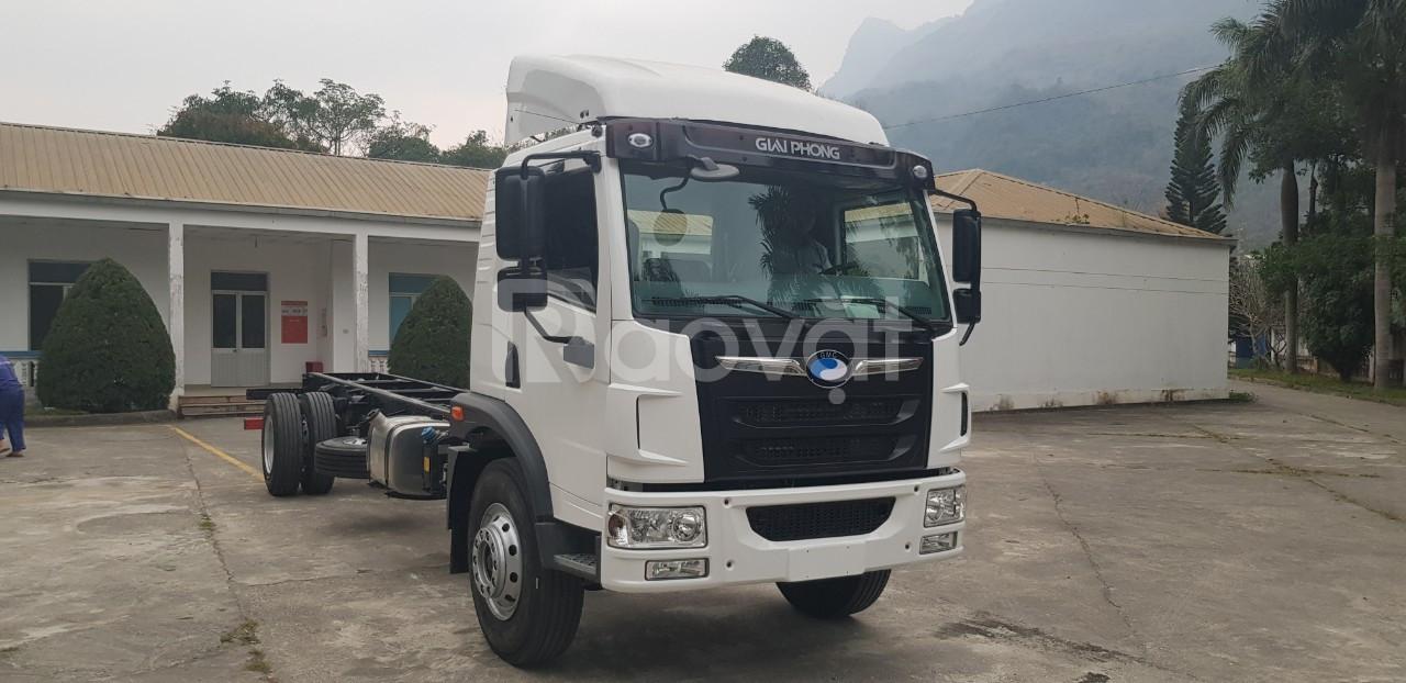 Giá xe tải faw 8 tấn - thùng bạt 8m chở bao bì giấy   Hỗ trợ trả góp