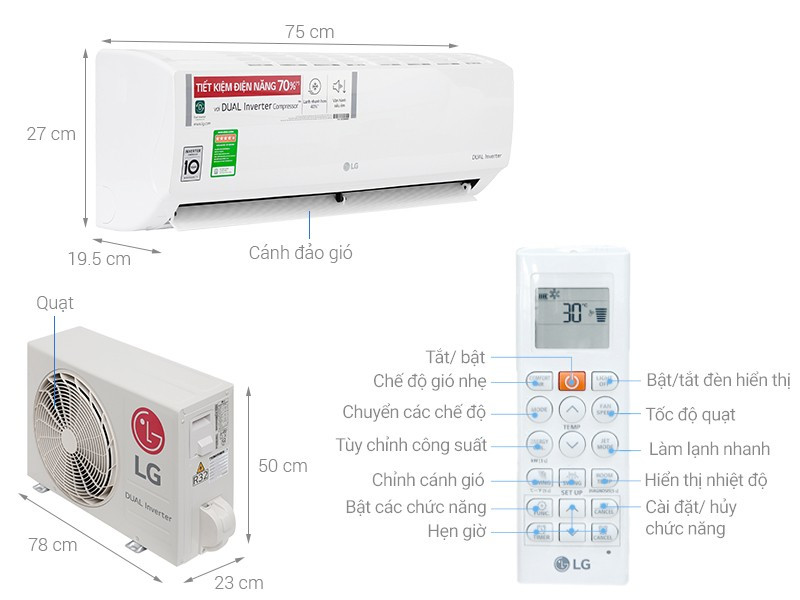 Máy lạnh LG Inverter - 1 HP