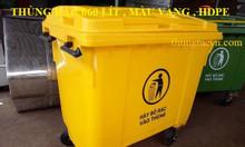 Thùng rác 660 lít màu vàng giảm giá