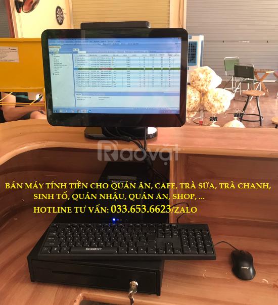 Máy tính tiền trọn bộ giá rẻ cho quán trà chanh, sữa chua