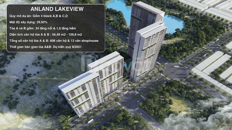 Mở bán đợt 3 chung cư Anland Lake View, quỹ căn đẹp