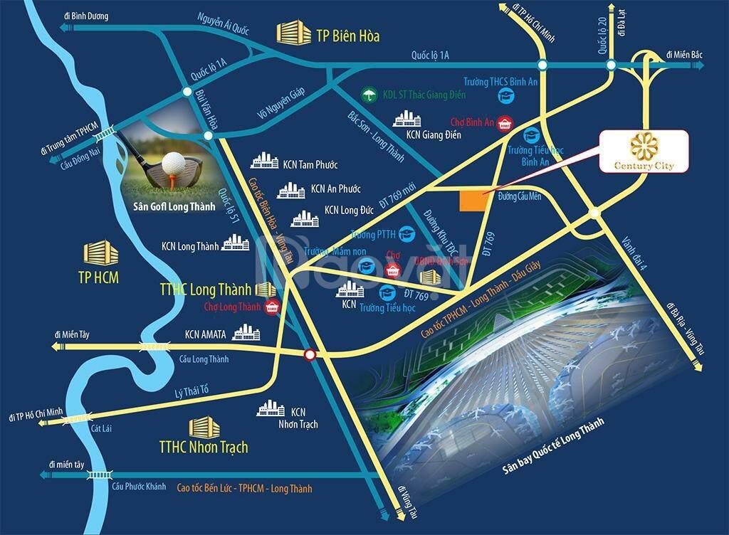 Khu đất vàng mặt tiền đường ĐT 769 , cách Sân Bay Long Thành 2km