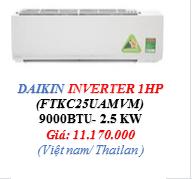 Máy lạnh Daikin Inverter - FTKC - 1 HP