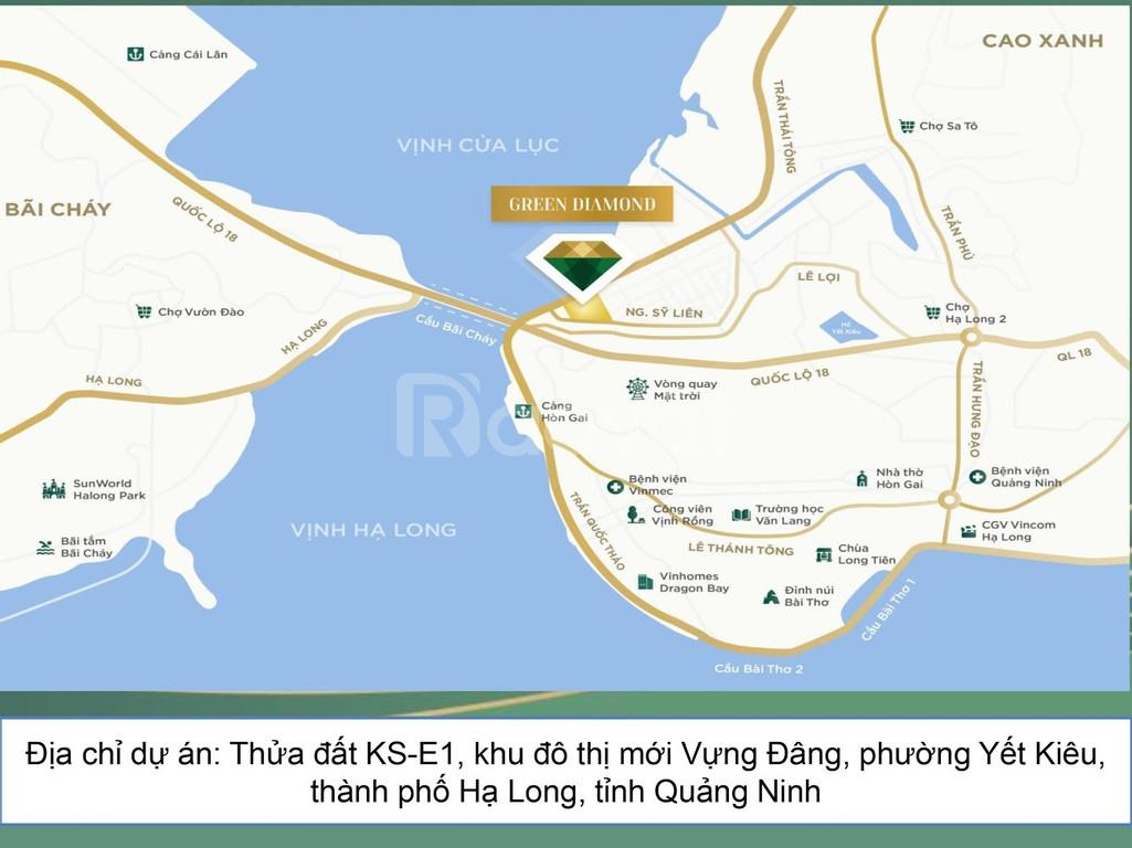 Suất ngoại giao căn số 08A tầng cao dự án Green Diamond Hạ Long