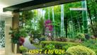 Tranh gạch men 3d, tranh cây xanh dán tường (ảnh 1)