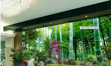 Tranh gạch men 3d, tranh cây xanh dán tường