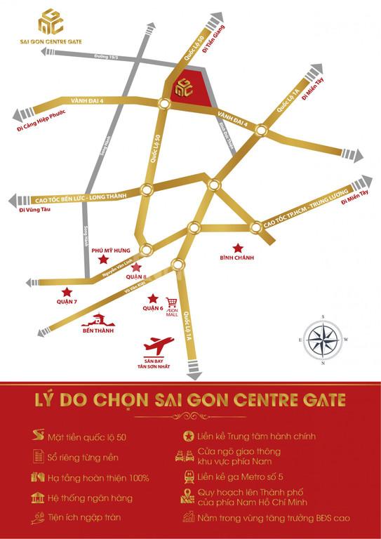 Cọc đất nhận vàng, sẵn sàng công chứng tại Sài Gòn Centre Gate