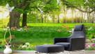Tranh gạch men 3d, tranh cây xanh dán tường (ảnh 5)