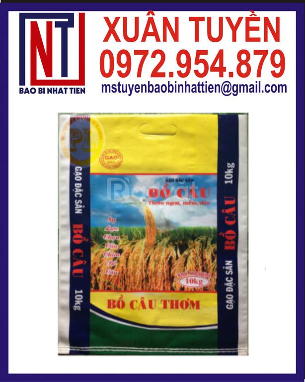 Chuyên in bao đựng gạo 10kg, bao PP ghép màng đựng gạo