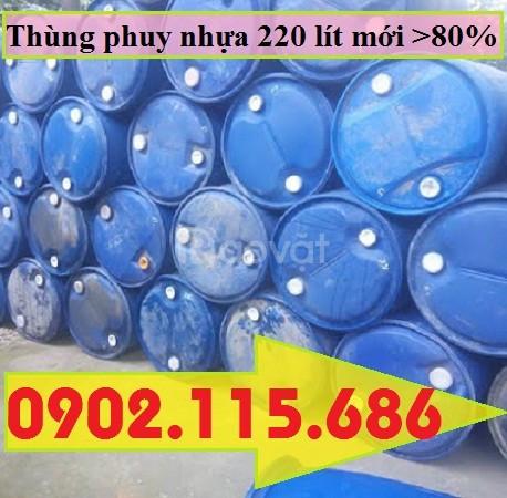 Thùng phuy nhựa đựng xăng dầu, thùng phuy nhựa đựng hóa chất
